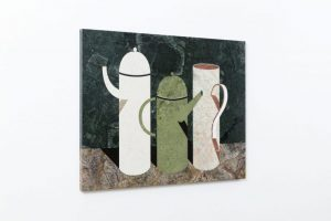 three pots, 2018 marble, 100 x 77.5 x 1 cm