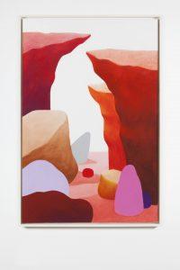 nicolas party, landscape, 2015 pastel on canvas, 150 x 100 cm