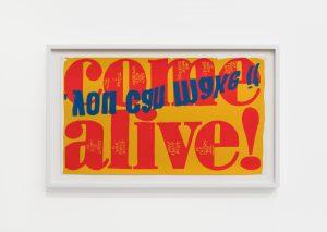 come alive, 1967, screenprint, 33 x 58,4 cm / 13 x 23 in