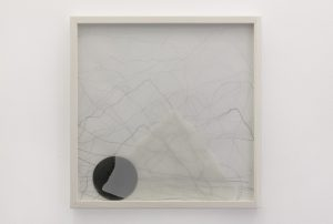 <i>alpha and omega</i>, 2013</br>graphite on paper</br>50 x 50 x 6 cm / 19.6 x 19.6 x 2.3 in