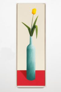 nicolas party, tulipe, 2015 pastel on canvas, 150 x 50 cm