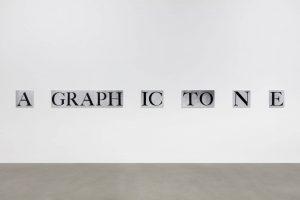 <i>a graphic tone</i>, 2018</br> 38,1 x 600 x 0,8 cm / 15 x 236.2 x 0.3 in
