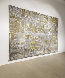 pae white, ss - 1902 - 01, 2014 cotton, silver, lurex and polyester, 407 x 292 cm