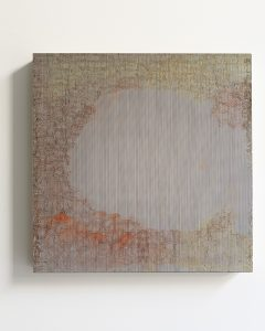 pae white, how august works, 2011 clay and ink on wood, 45 x 45 cm