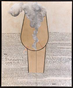 thomas zipp, a. b.: partial impulses, 2013 oil and marker on canvas, cm 185 x 155