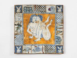untitled, 1970 ceramic, glaze 10.5 × 10.5 × .75 inches