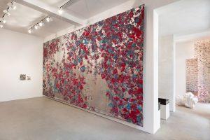 bugz & drugs - mid-winter, 2017 cotton, polyester, lurex, 406 x 803 cm