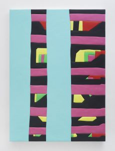 medite, aqua resin, casein and acrylic, 170.18 × 124.5 cm 67 x 49.5 inches