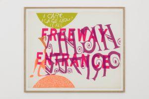 Corita Kent, <i>highly prized</i>, 1967 </br> 84 x 99,5 x 3 cm 33.1 x 39.2 x 1.2 in (framed)