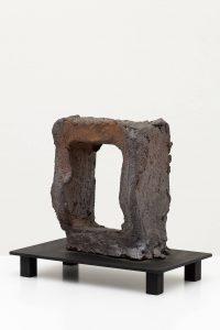 standing man, 2012 wood klin fired stoneware, 43 × 15 × 24,5 cm