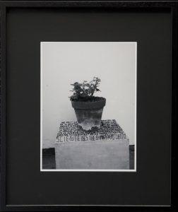 thomas zipp, a. b.: hunger, 2013 marker on photograph, 62.5 x 52.5 cm framed