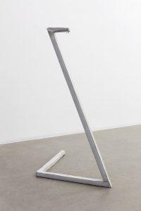 judith hopf, untitled (serpent), 2016 concrete, metal, newspaper, 113 × 94 × 55 cm