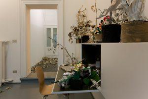 pae white, studio plants, installation view, francesca kaufmann, milan, 2008