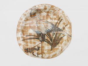 untitled, 1999 ceramic, glaze 9.4 x 9.5 x .5 inches