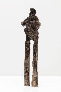 walking man, 2009 glazed stoneware, 28 × 7,5 × 3 cm