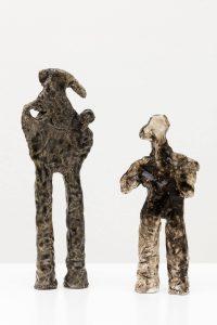 man and his shadow, 2009 glazed stoneware, 32 × 11 × 6 cm 25 x 11 x 4 cm