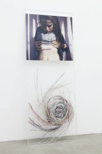 maggie cardelús, laura unraveling, with style, 2012 digital photo print, 150 x 60 cm