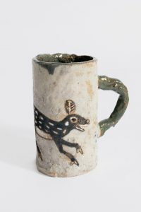untitled, 2014 ceramic, glaze 4.75 × 4 × 2.63 inches