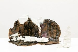 the dream, 2016 glazed stoneware, porcelain , 46 × 25 × 22 cm