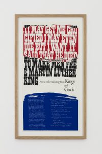 <i>king's dream</i>, 1969 </br>  screenprint, 66,5 x 38,5 cm / 26.2 x 15.2 in
