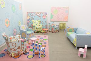 lily van der stokker, storage room, 2012 mixed media, installation size: 430 x 235 x 560 cm