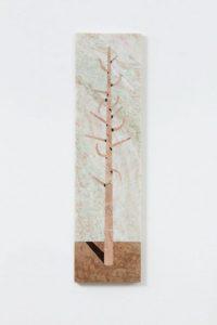 tree, 2018 marble, 90 x 24 x 1 cm