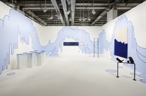 <i>blue blob drip wallpainting</i>, 2014