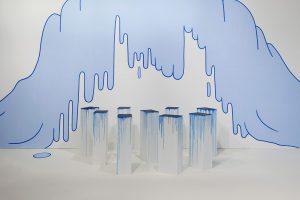 <i>blue blob drip wallpainting</i>, 2014 </br> (detail)