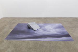 <i>beneath the surface</i>, 2014</br>print on blueback paper, aluminium</br>22,9 x 149,9 x 223,5 cm / 9 x 59 x 88 in