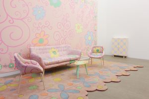 <i>pink decoration</i>, 2012 </br> mixed media, installation size: 295 x 750 x 255 cm / 116.1 x 295.2 x 100.3 in