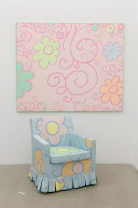 <i>small pink decoration painting and gobelin armchair</i>, 2012