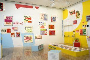 <i>Power Up: Sister Corita and Donald Moffett, Interlocking</i>, 2000