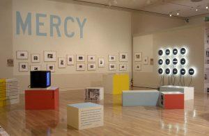 Power Up: Sister Corita and Donald Moffett, Interlocking, installation view, Hammer Museum, Los Angeles, 2000