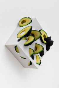 dither ... avocados, 2017 colored sandstone, 28,8 x 24,74 x 12,82 cm