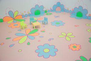 <i>flower floor painting</i>, 2010 </br> installation view, la conservera, murcia