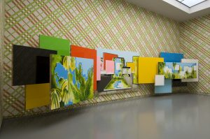 <i>in the embellishment</i>, 2009 </br> installation view, van abbemuseum, eindhoven </br>  with esther tielemans's artwork