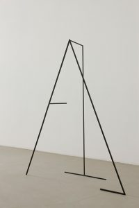 <i>no help with the map</i>, 2010</br> painted steel</br>140 x 112 x 27 cm