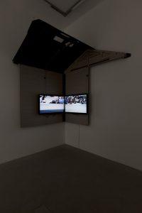 yoshua okón, hipnostasis (in collaboration with raymond pettibon), 2009 six-channel video installation, duration 6'59''