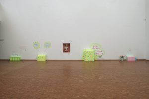 <i>small talk</i>, 2003 </br> installation view, museum ludwig, cologne