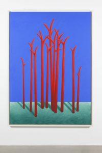nicolas party, trees, 2015 pastel on canvas, 180 x 130 cm
