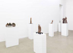 standing figures, installation view, kaufmann repetto, milan, 2016