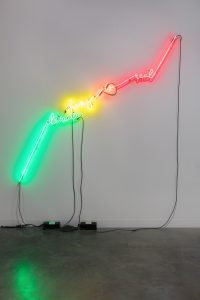 Andrea Bowers, <i>Heat Index</i>, 2019 </br> neon, 203,2 x 182,8 x 6,3 cm / 80 x 72 x 2.5 in