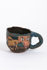 Magdalena Suarez Frimkess, <i>untitled</i>, 2014 </br> glazed ceramic, 7,6 x 10,1 x 7,6 cm / 3 x 4 x 3 in