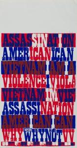 <I>american sampler</I>, 1969 </br> screenprint, 57,2 x 29,2 cm / 22.5 x 11.5 in