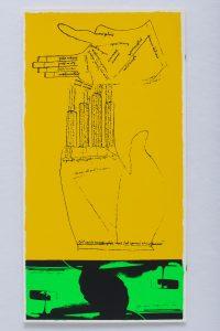 <I>green fingers</I>, 1969 </br> screenprint, 58,4 x 29,2 cm / 23 x 11.5 in