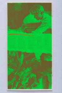 <I>i'm glad i can feel pain</I>, 1969 </br> screenprint, 58,4 x 30,5 cm / 23 x 12 in