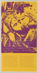 <I>pieta 1969</I>, 1969 </br> screenprint, 57,2 x 29,2 cm / 22.5 x 11.5 in