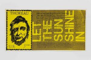 <I>the stamp of thoreau</I>, 1969 </br> screenprint, 29,2 x 57,2 cm / 11.5 x 22.5 in