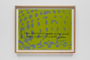 <i>I am the sacred words of the earth - shell writing #3</I>, 1976 </br> screenprint, 56 x 42 cm / 22.1 x 16.5 in