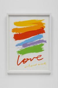 <I>Love is Hard Work</I>, 1985 </br> screenprint,  61 x 45,7 cm / 24 x 18 in